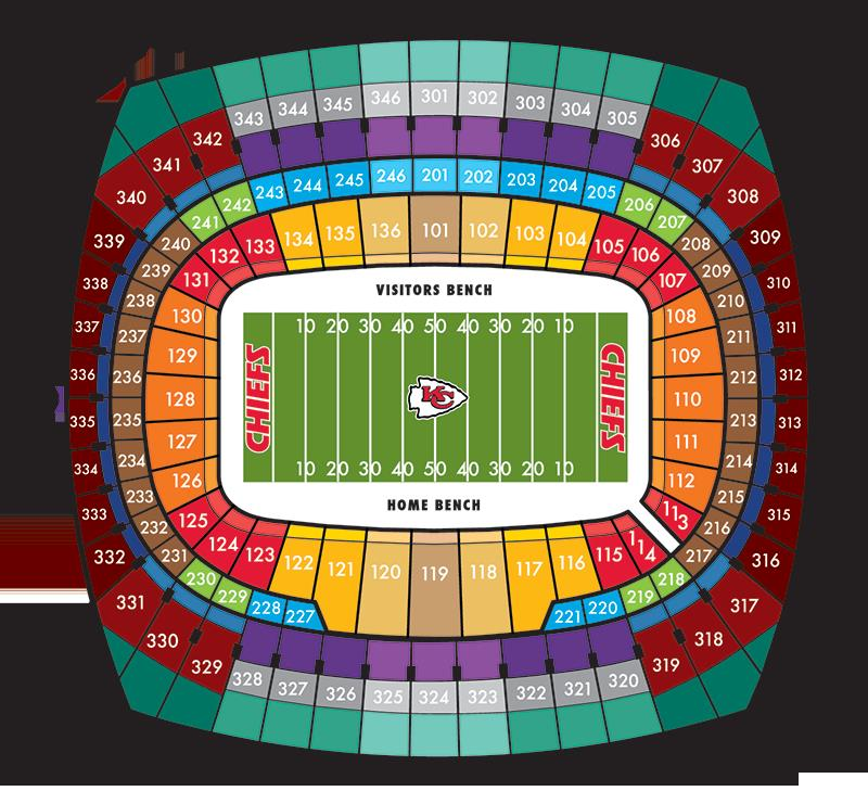Kc chiefs stadium seating chart 100 images arrowhead stadium