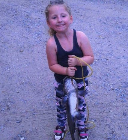 Autumn and her catch