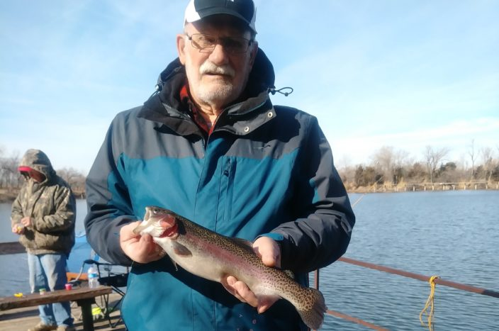 Jim Hubbard 2.4lb trout caught 1/9/19