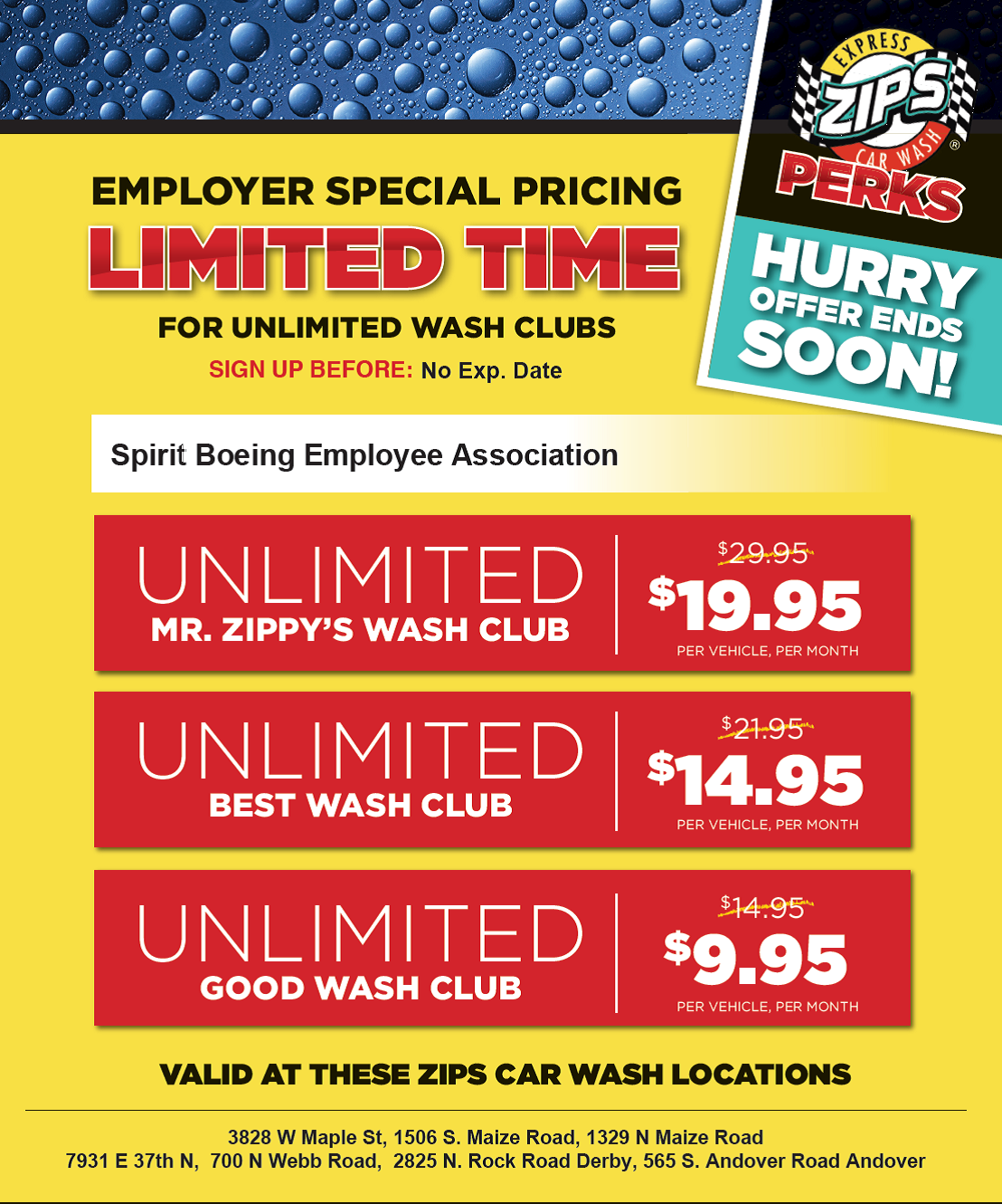 Zipps Car Wash Spirit Boeing Employees Association