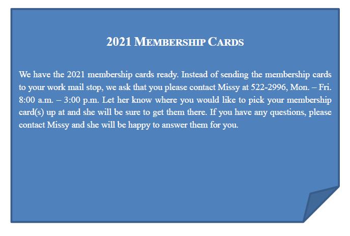 2021 Member cards